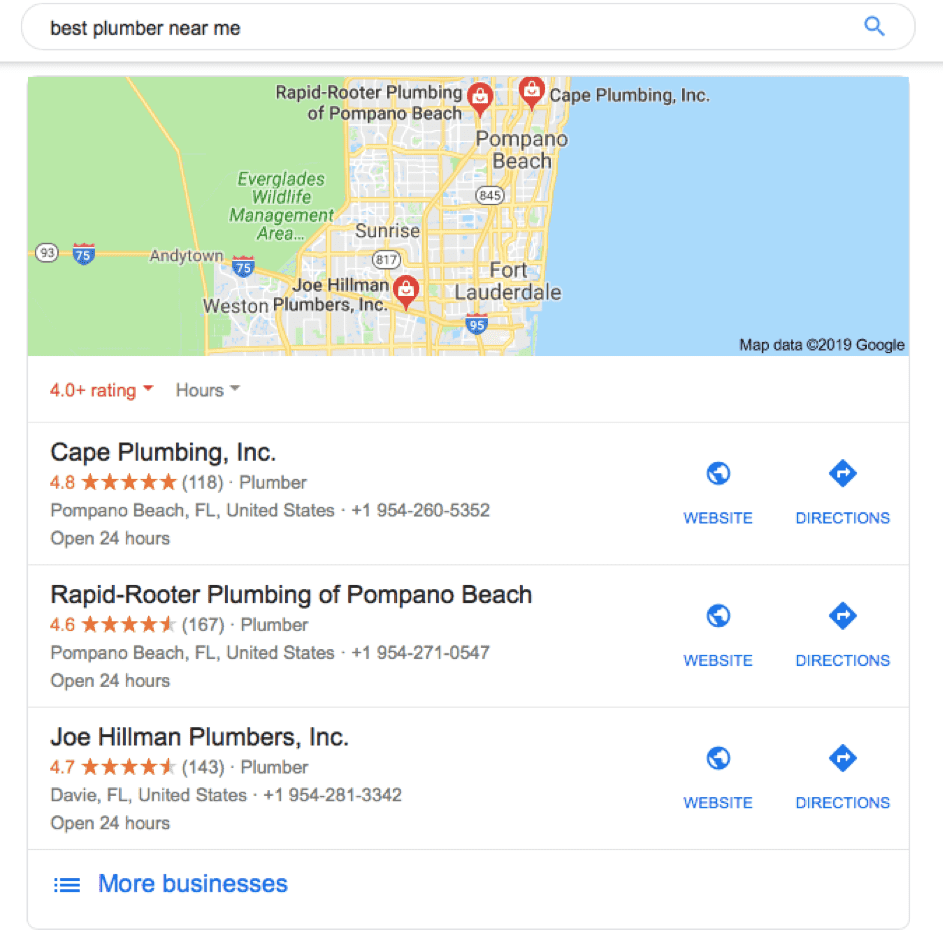 Local Search Best Plumber Near Me